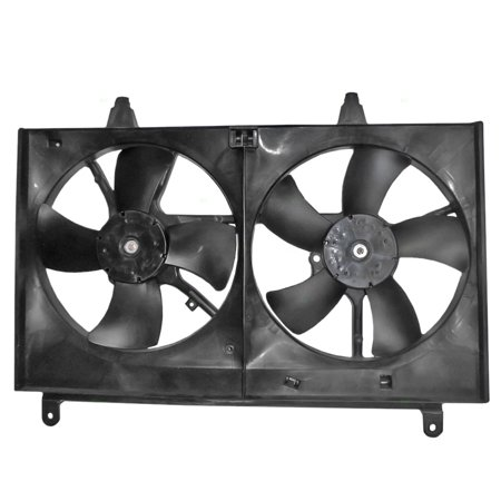 Dual Radiator AC A/C Condenser Cooling Fan Assembly Replacement for Infiniti SUV 21481CL80A (A/c Condenser Radiator Fan)