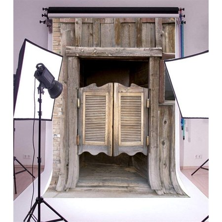 ABPHOTO Polyester 5x7ft Photography Backdrop Weathered Western Wooden Bar Barn Scene Photo Background Backdrops for Photography Photo Shoots Party Adults Wedding Personal Portrait Photo Studio Props - Western Photography Ideas