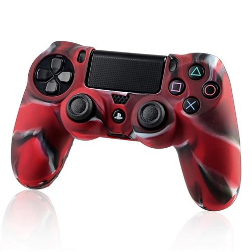 Insten 3x Camouflage Navy Red Skin Case Cover for Sony PlayStation 4 PS4