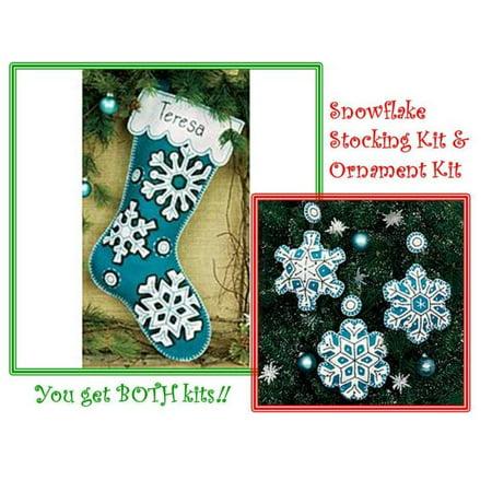 Dimensions Christmas Stocking Kits.Flurries Stocking Ornament Kits Dimensions Christmas Felt