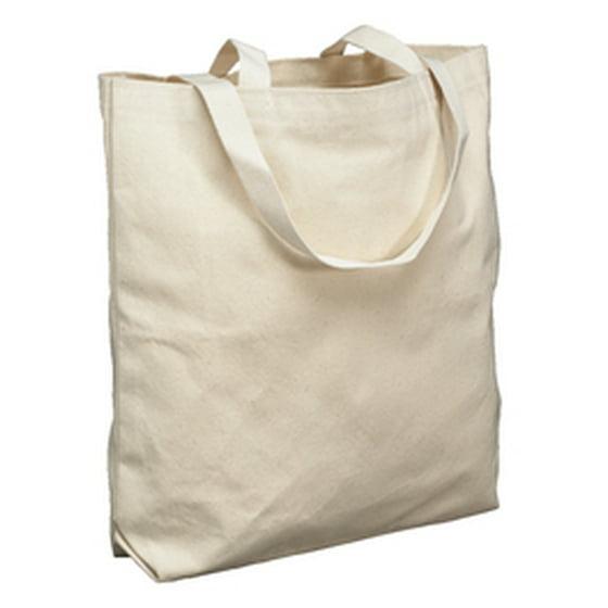 71ff6e5753a School Smart Canvas Tote Bag, Large, 16-3/4 x 17-1/2 x 5 Inches, Natural
