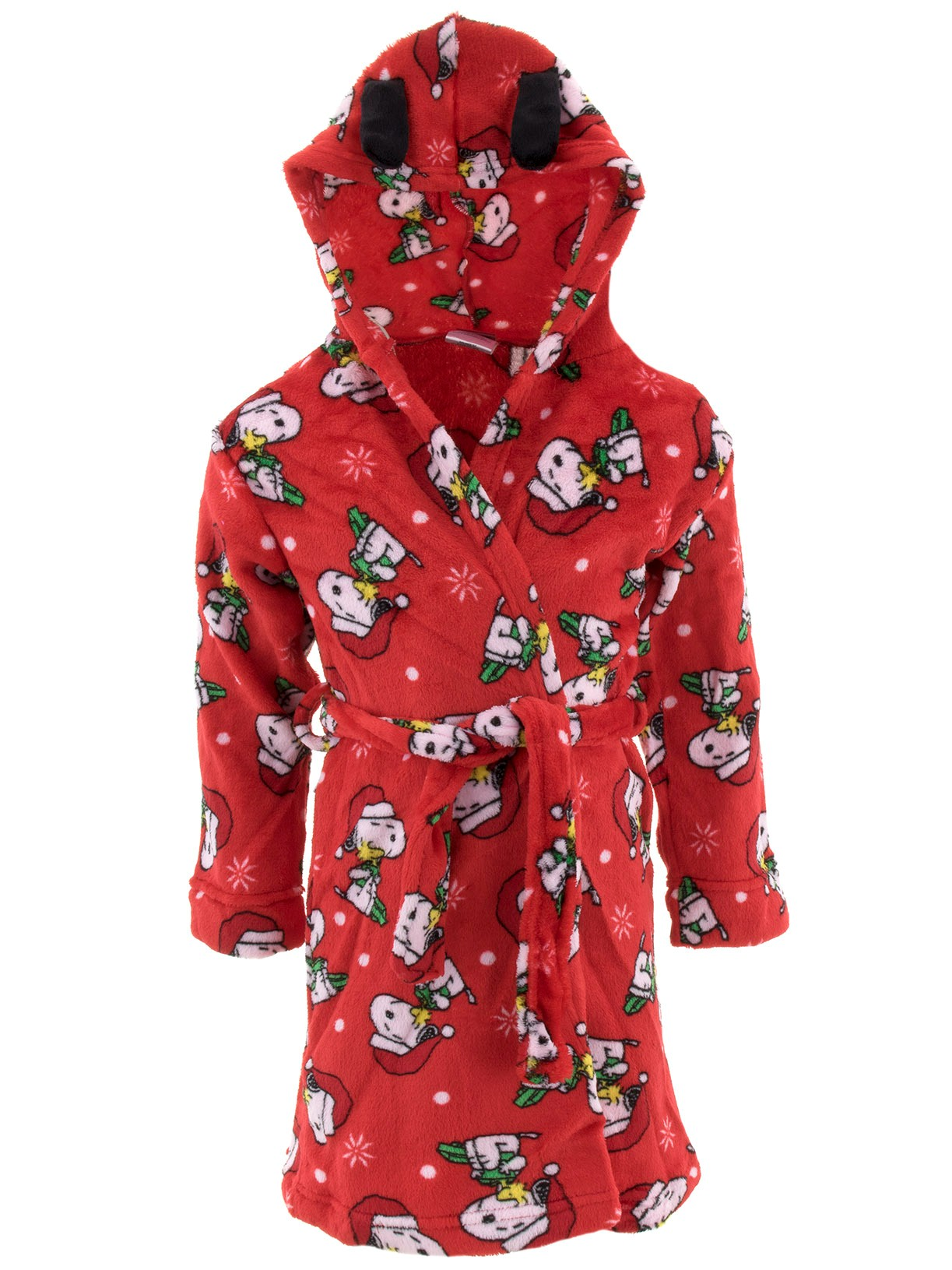 Peanuts Snoopy Christmas Holiday Plush Hooded Robe