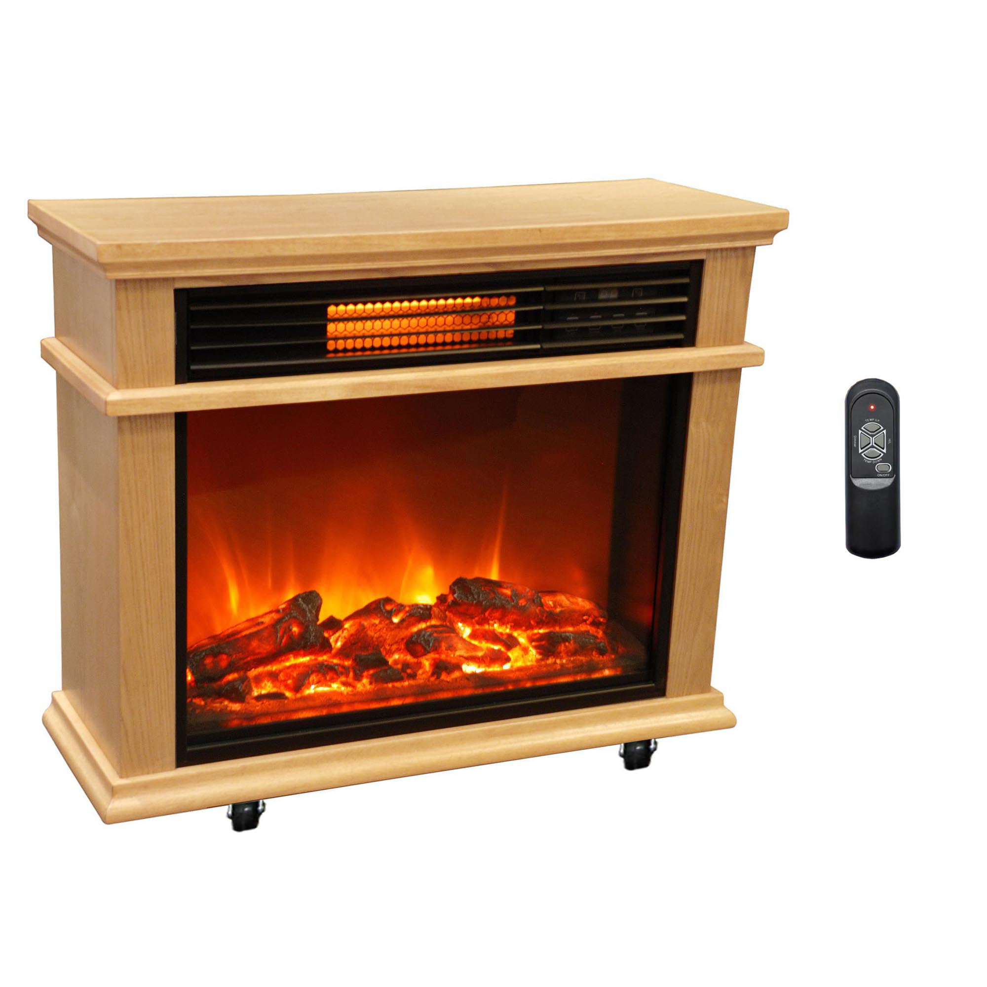 Beautiful Electric Portable Fireplace Heater Part - 3: LifeSmart Large Deluxe Mantle Portable Electric Infrared Quartz Fireplace  Heater