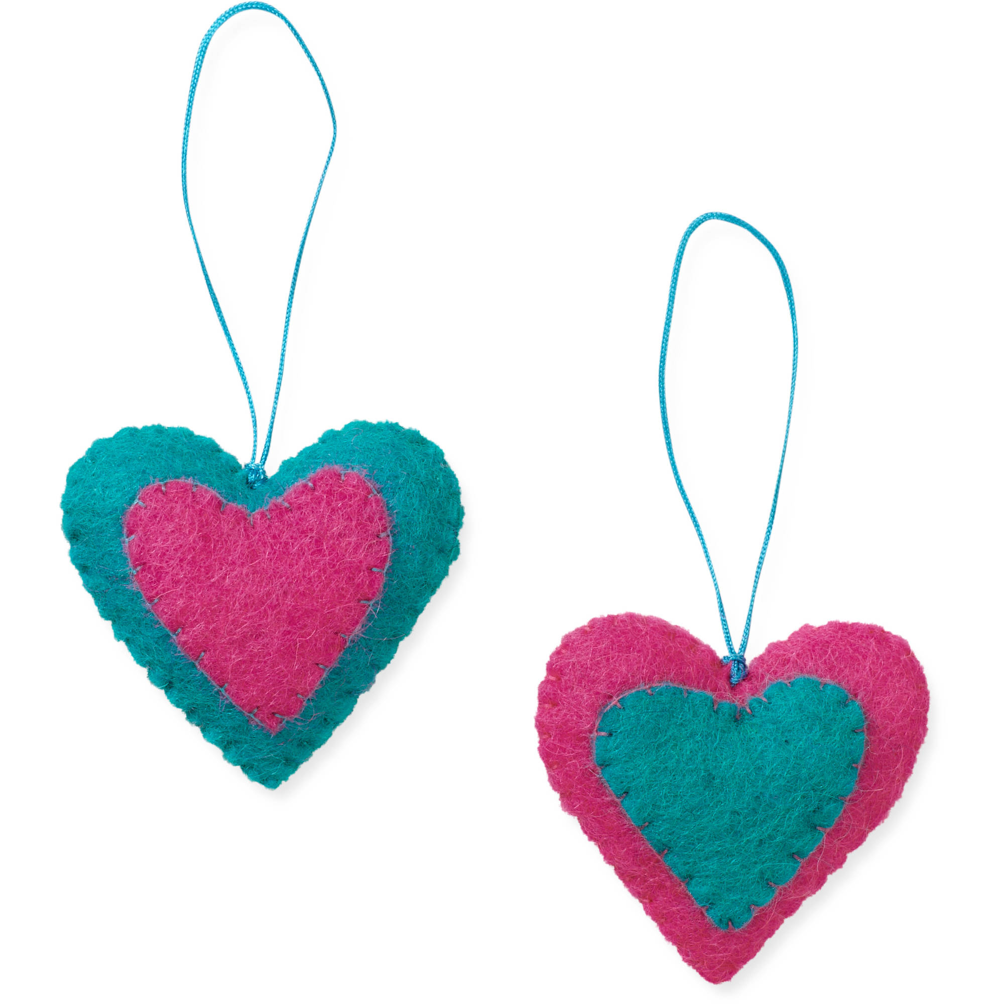2-Piece Heart Ornament Set by Friends Handicrafts for Global Goods Partners