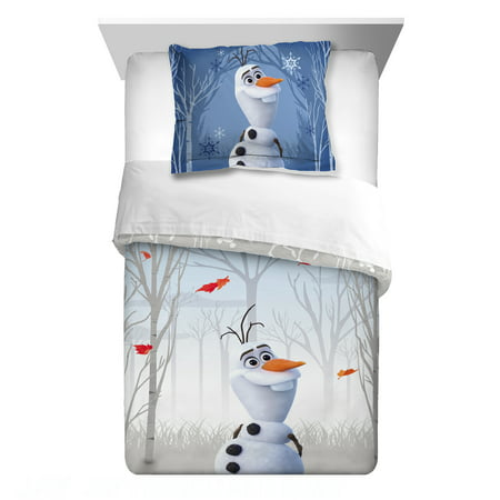 Disney's Frozen 2 Olaf Twin/Full Kids Reversible Comforter and Sham Set, Olaf's Journey