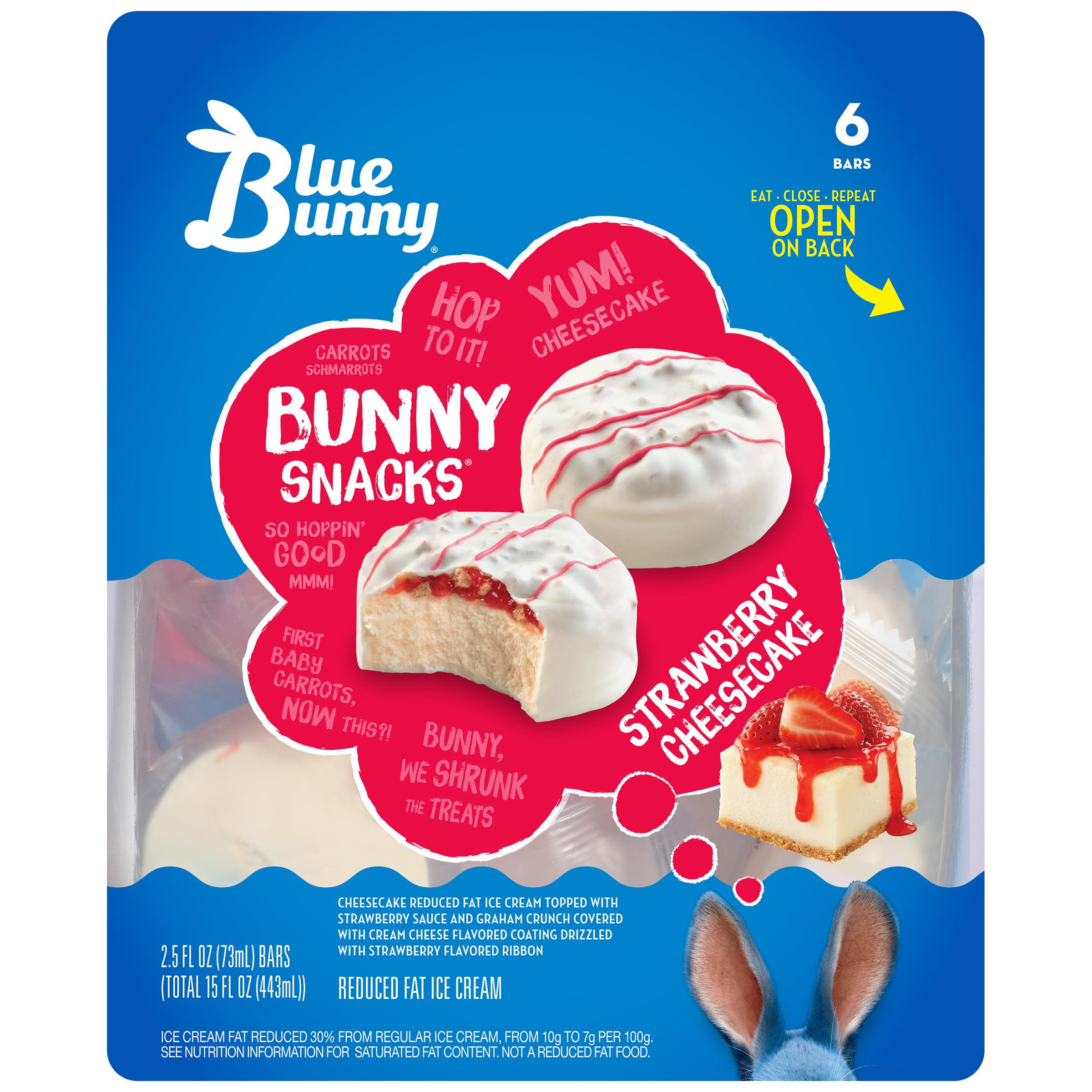 Admirable Blue Bunny Bunny Snacks Strawberry Cheesecake 6Pk Walmart Com Funny Birthday Cards Online Hendilapandamsfinfo
