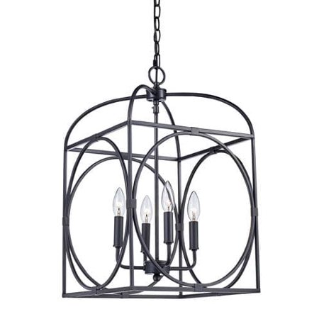 Bel Air Lighting Square Cage 4 Light Pendant