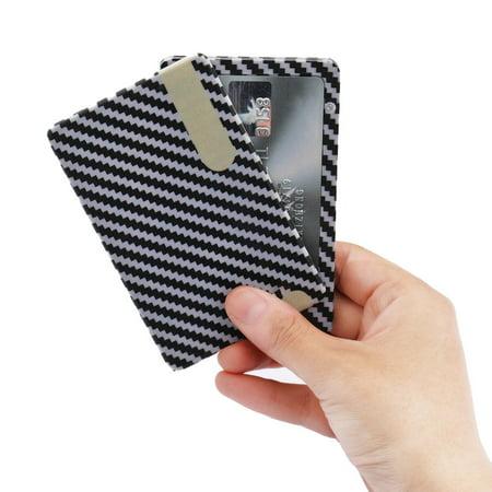 2019 New fashion Carbon Fiber Wallet,Slim Credit Card Holder Mens (Best Credit Card Wallet 2019)