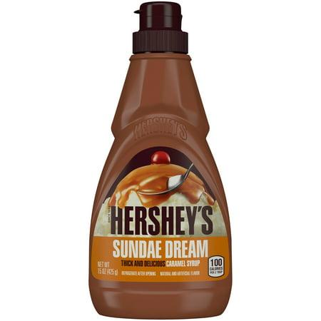 (2 Pack) HERSHEY'S SUNDAE DREAM Caramel Syrup, 15 - Caramel Apple Toppings Halloween