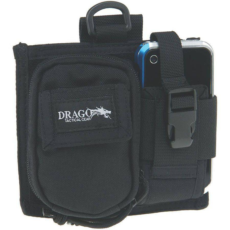 Drago Gear 16303BL Recon Camera Utility Phone and Case, 600D Polyester, Black