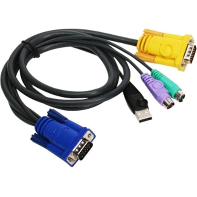 IOGear G2L5302UP 6 ft.  PS 2 USB KVM Cable
