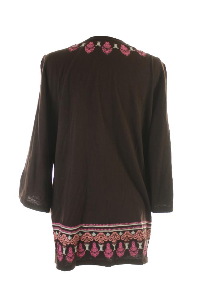 3e7a9712acf Charter Club - Charter Club Women s Beaded Printed Cotton Knit Tunic ...