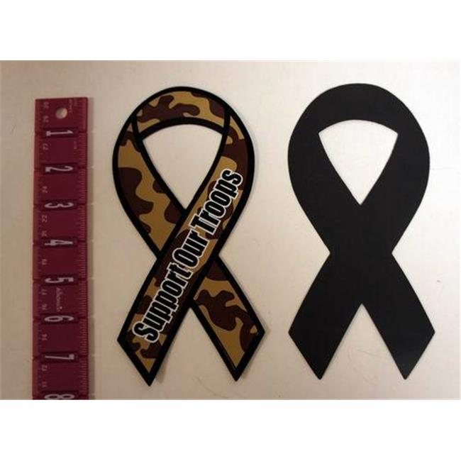 Bulk Buys Camouflage Support Our Troops Patriotic 8 inch Ribbon Magnet - Case of 200