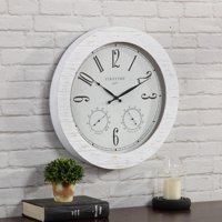 "FirsTime & Co.® 18"" Shiplap Planks Outdoor Clock"