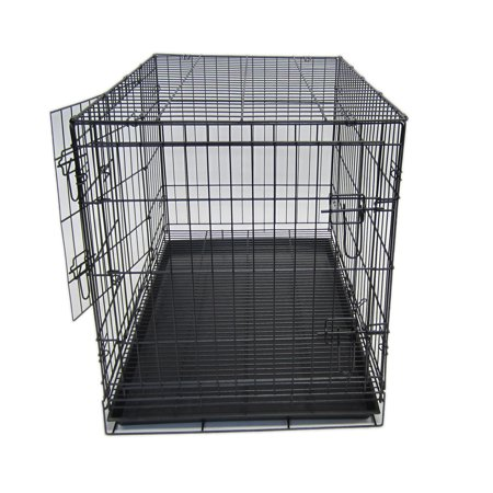 Yml Sa20g 20 Collapsible Metal Pet Crate With Bottom Grate