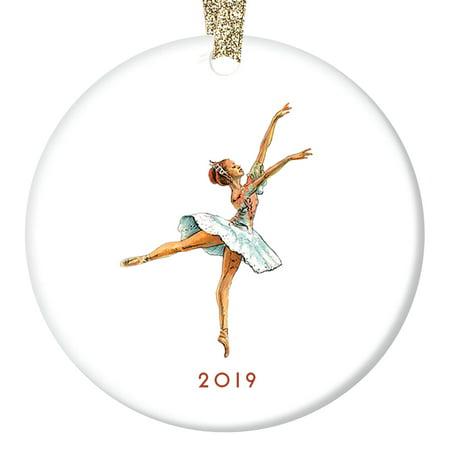 Nutcracker Ballet Gifts (Vintage Nutcracker Ballerina Ornament 2019, Sugarplum Fairy Ballet Porcelain Ornament, 3