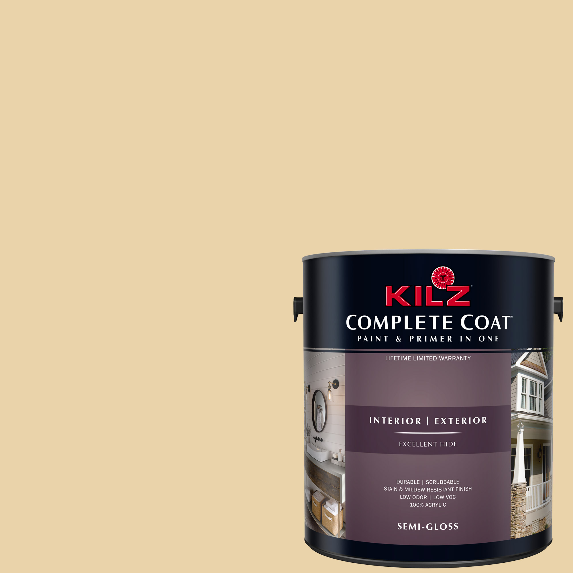 KILZ COMPLETE COAT Interior/Exterior Paint & Primer in One #LE170-02 Goldilocks