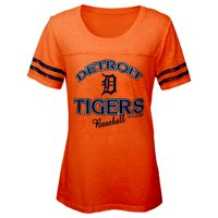 MLB Detroit TIGERS TEE Short Sleeve Girls Fashion 60% Cotton 40% Polyester Alternate Team Colors 7 - 16