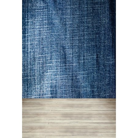 HelloDecor Polyster 5x7ft Jean Pattern Denim Texture Wall Photography Studio Backdrops Blurry Wood Floor Photo Shoot Background Video Props Girl Youngster Adult Boy Artistic Portrait](Halloween Portrait Backgrounds)