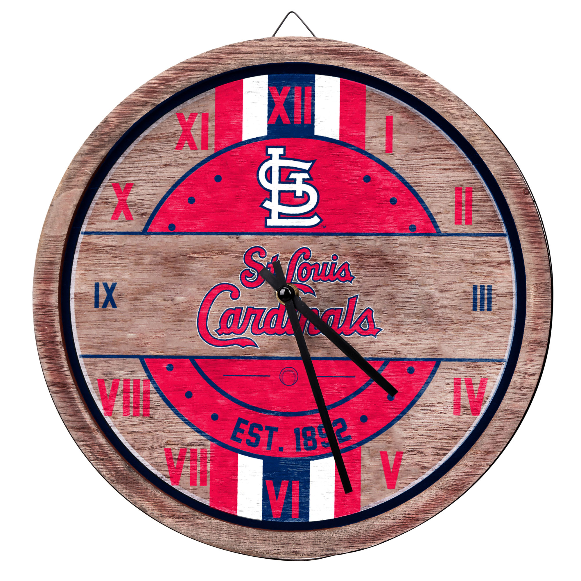 St. Louis Cardinals Metal Wall Clock - No Size