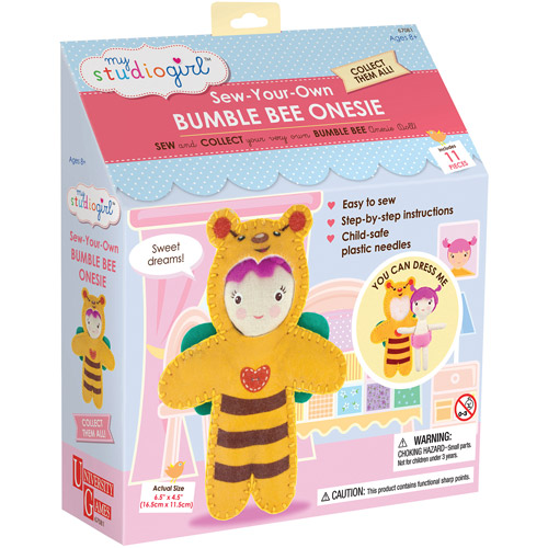 My Studio Girl Sew-Your-Own Bumble Bee Onesie