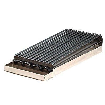 Burner Commercial Broiler - master chef 10 gauge steel commercial two burner broiler with removable grease tray.