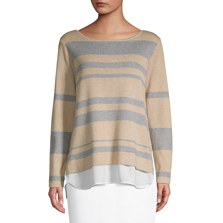 Striped Boatneck Sweater