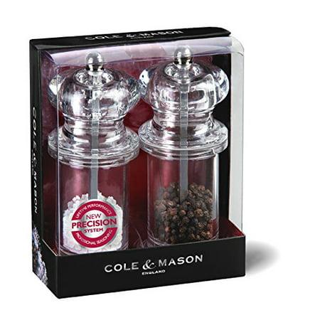 Clmsn Salt & Pep Mill Set Size Set/2 Clmsn Salt & Pep Mill Set Set/2, Cole & Mason 505 Acrylic Salt and Pepper Mill Set By Cole & Mason (Cole & Mason Acrylic)