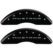 MGP 4 Caliper Covers Engraved Front 2015/Mustang Engraved Rear 2015/GT Black finish silver ch