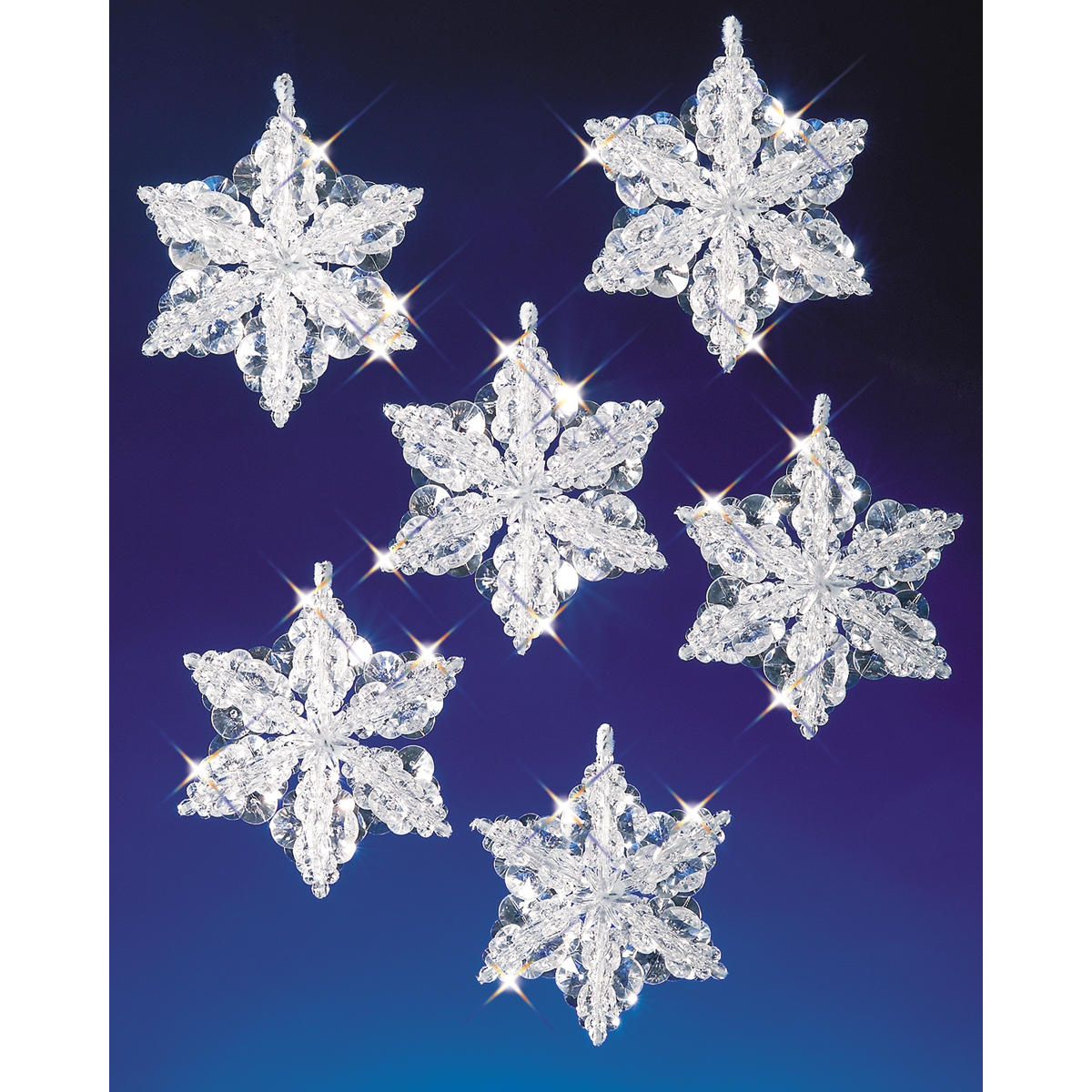 The Beadery Christmas Snowflake Ornament Bead Kits and Crafts