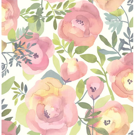 NuWallpaper Peachy Keen Pink Peel & Stick Wallpaper
