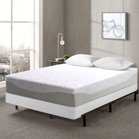 Best Price Mattress 11 Inch Gel-Infused Memory Foam Mattress and 7.5 Inch New Steel Box Spring Foundation