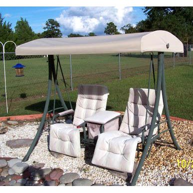 Garden Winds Replacement Canopy Top for 2 Person Arched Top Swing