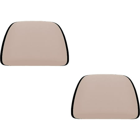 2 Piece Universal Fit (U.A.A. INC. Beige 2 Piece Soft Polyester Universal Fit Head Rest Cover Car Truck Suv Van)