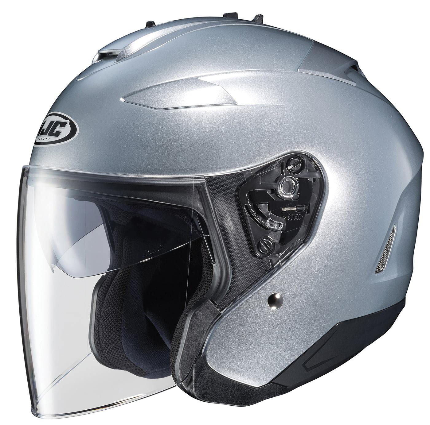 HJC IS-33 II Solid Helmet (Silver, Large)