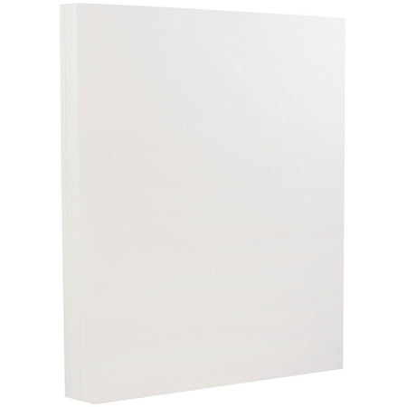 JAM Paper Strathmore Cardstock, 8.5 x 11, 88 lb Bright White Wove, 25% cotton, 50 Sheets/Pack