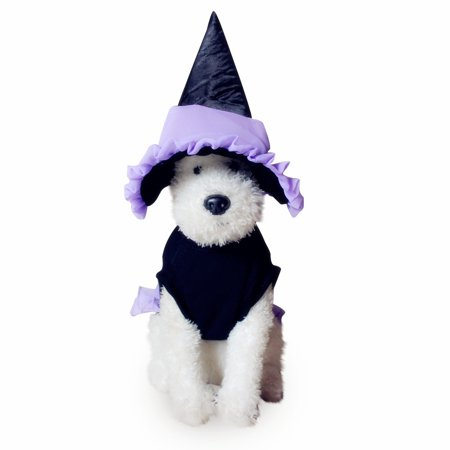 Mosunx Pet Halloween Cat Clothes Puppy Dressing Up Dog Party Clothes Plus Hat