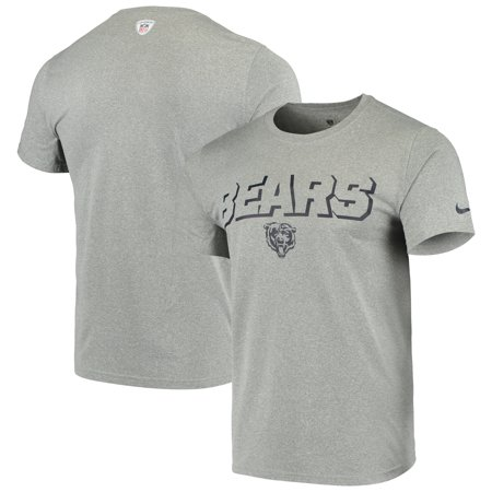 Nike Soccer Suit - Chicago Bears Nike Sideline Legend Sweat Reveal Lift Performance T-Shirt - Heathered Gray