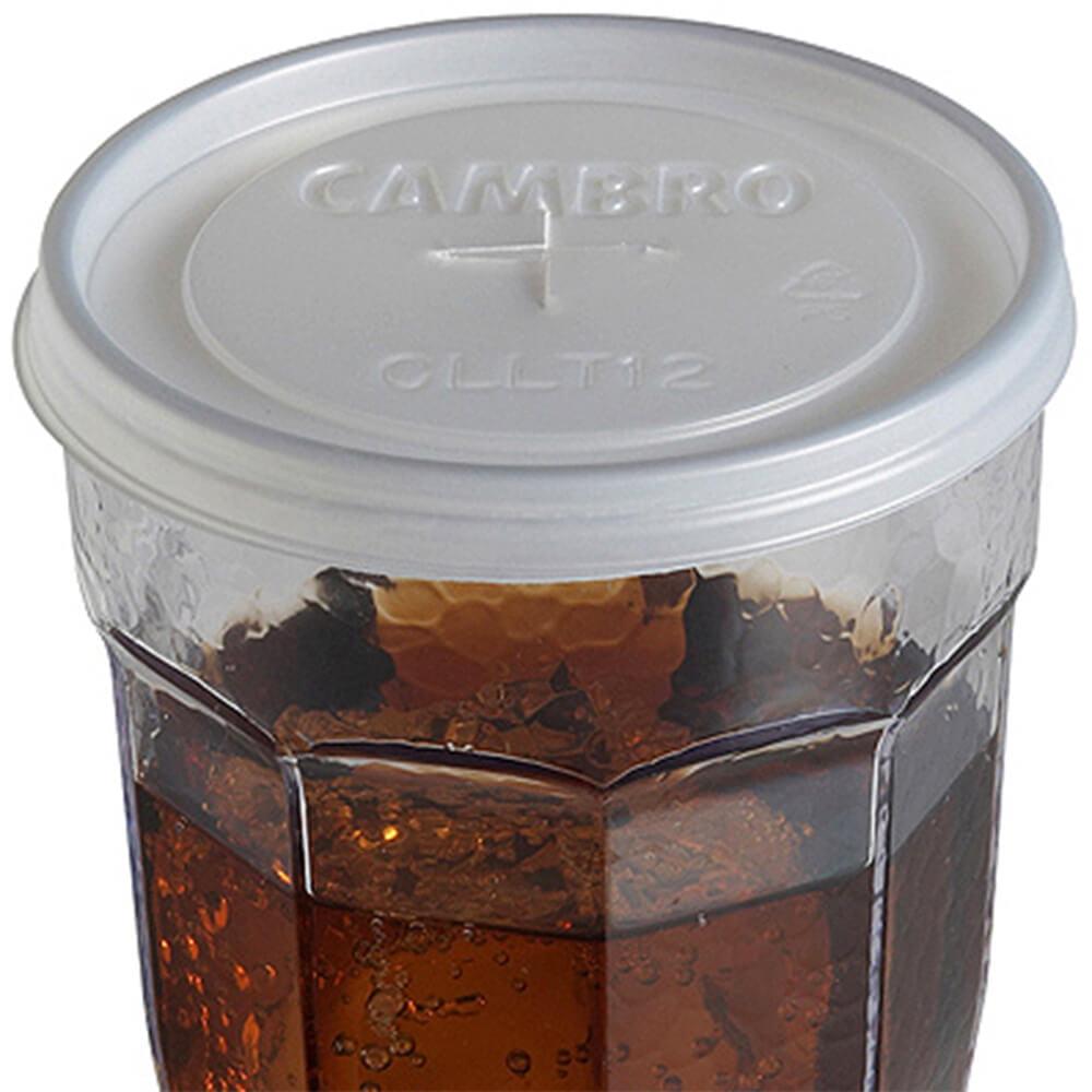 """Cambro Disposable Cup Lids, Fits 3-1/8"""" Top Diameter Cambro Tumblers, 1000PK, CLLT12-190"""