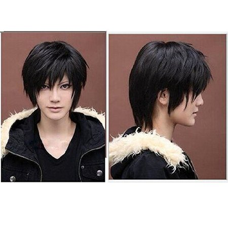 Wigs For Black Women Cheap (AGPtek Fashion Short Straight Toupee Hair Wig for Women/Men's Cosplay)