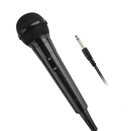 - Singing Microphone, EEEKit Singing Machine 6.35mm Dynamic Karaoke Wired Handheld Microphone Karaoke Accessory with 10ft Cord for Singing, Speech, Wedding, Black