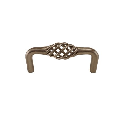 Bird Cage Birdcage Kitchen Bath Cabinet Pull SN Satin Nickel 76MM  3