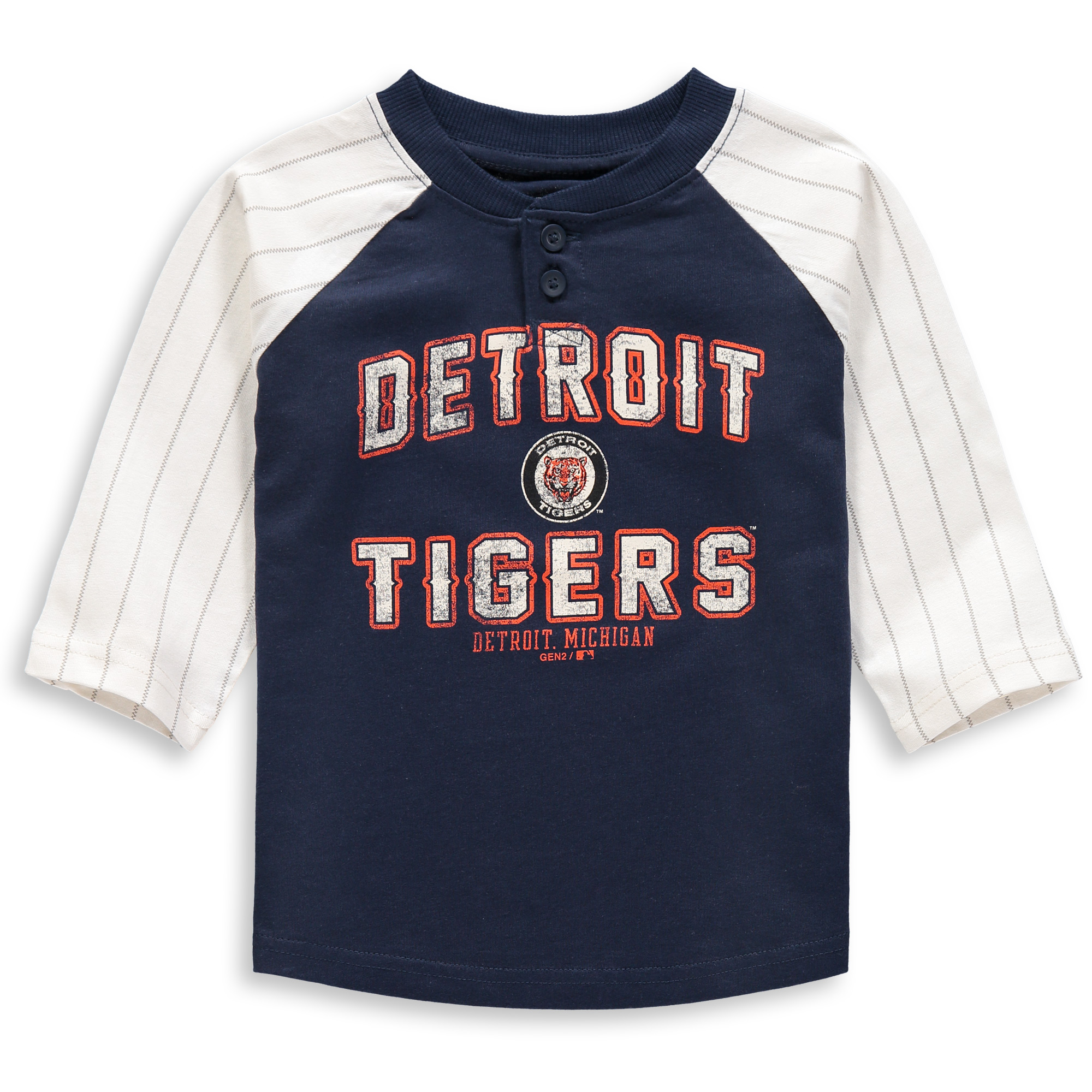 Detroit Tigers Toddler The First Ever 3/4-Sleeve T-Shirt - Navy
