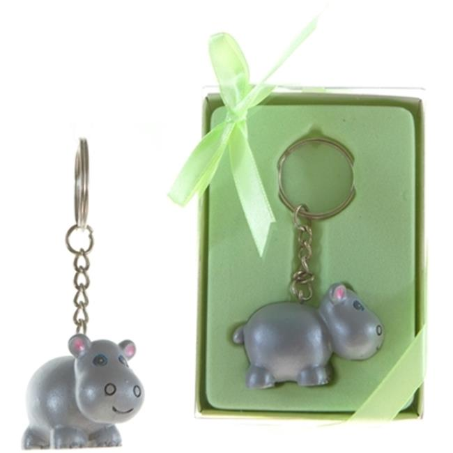 DDI 1996545 Baby Hippo Poly Resin Key Chain in Gift Box, ...