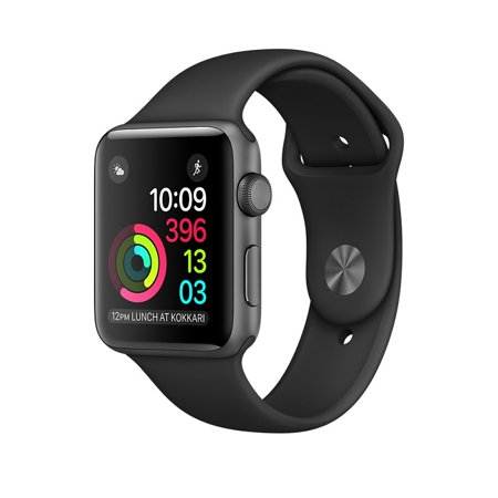 Refurbished Apple Watch 42Mm Silver Aluminum With Black Sport Band