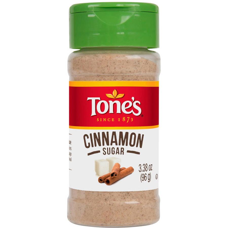 (4 Pack) Tone's Cinnamon Sugar, 3.38 oz
