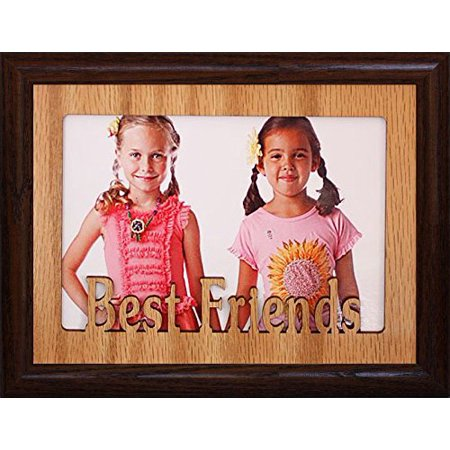 Best Friends ~ Landscape Oak Mat With Frame ~ Holds A 4X6 Or Cropped 5X7 Picture ~ Wonderful Keepsake Gift For A Best Friend!