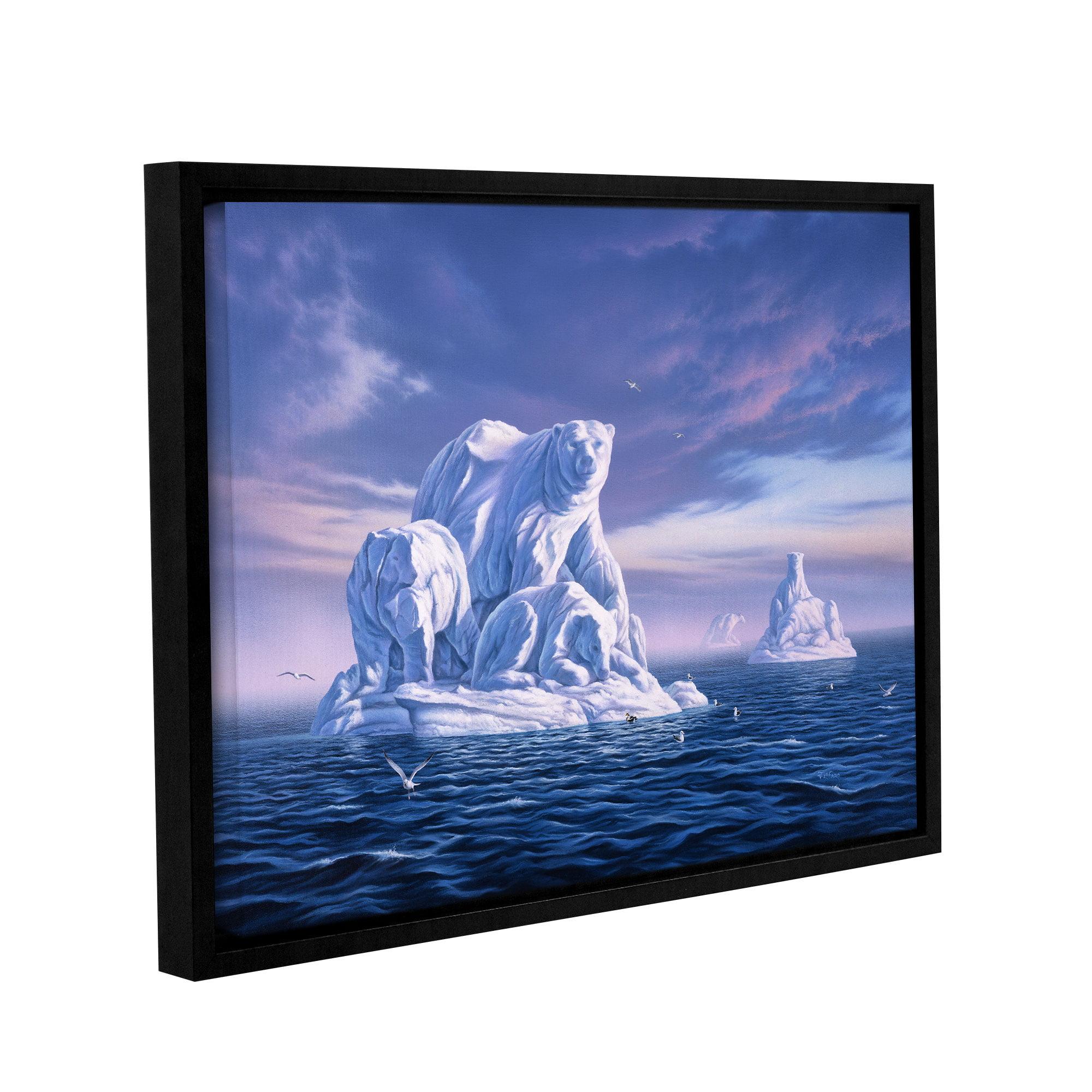 Iceberg' Gallery Wrapped Floater-framed Canvas Art Print