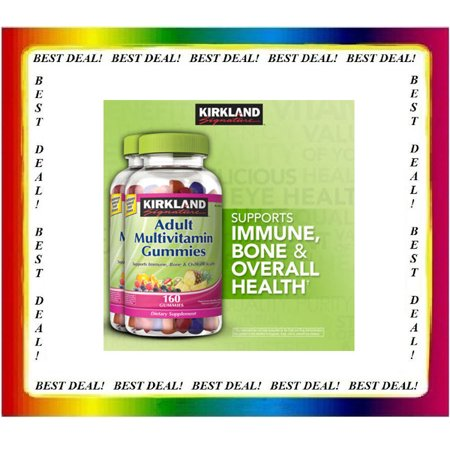 Kirkland Adult Multivitamin 2 Pack Of  160 Gummies  For Overall Wellness 320 Tl