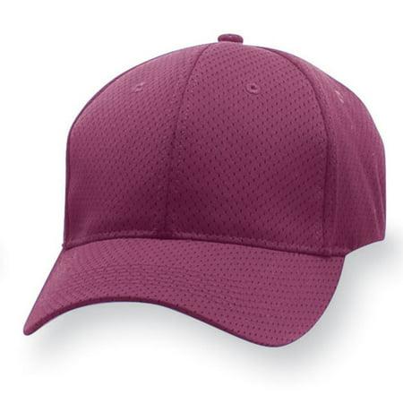 Flex Fit Athletic Hat (6232 Sport Flex Athletic Mesh Cap-adult MAROON S/M )